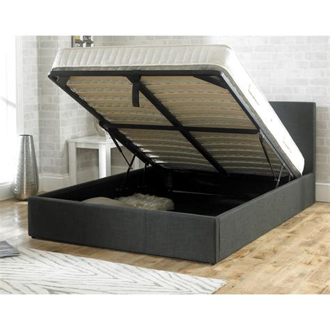 cheapest ottoman beds stirling ottoman 4ft6 charcoal fabric bed