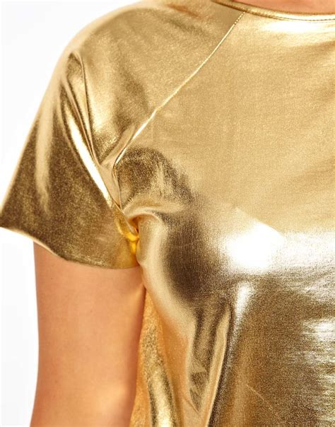 Tshirt Photography Desain Photography 16 asos t shirt in gold foil in metallic lyst