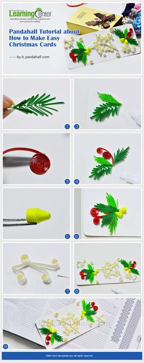 quilling tutorial card pandahall tutorial about how to make easy christmas cards