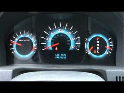 2010 ford fusion dash lights 2010 ford fusion dash view cold start youtube