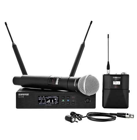 Microphone Waireless Shure Pgx288u2mic Pegang shure qlxd124 85 handheld lavalier wireless microphone system