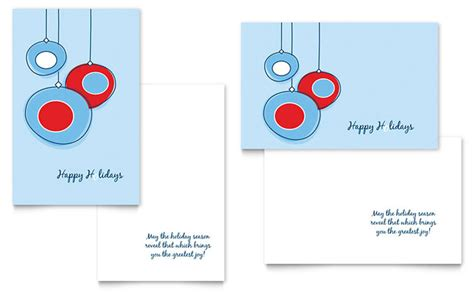Greeting Card Designer Templates by Ornament Balls Greeting Card Template Design