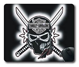 Harley Davidson Desk Accessories Harley Davidson Skull Logo Rectangle Mouse Pad Diy Cecilydreaming Office Products