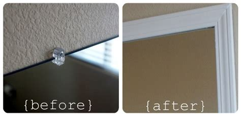 how to make frame for bathroom mirror frame your bathroom mirror over plastic clips somewhat