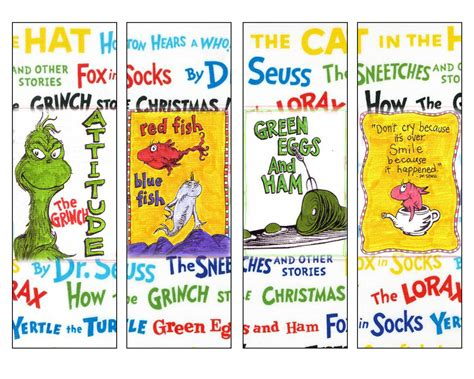 printable bookmarks dr seuss free dr seuss bookmarks for march 1 dr seuss pinterest