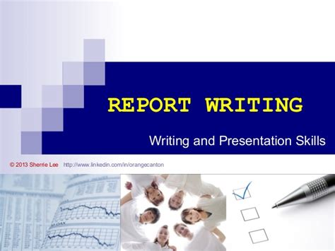 Report Writing Ppt by Report Writing Introduction Section