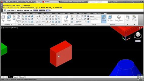 autocad tutorial youtube 3d autocad 3d tutorial tapering faces youtube