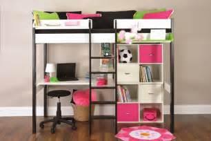 Metal Bunk Bed With Desk Underneath Metal Futon Bunk Beds Wit Stairs Desk Slide Walmart