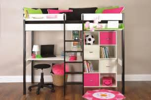 Metal bunk beds with desk home round