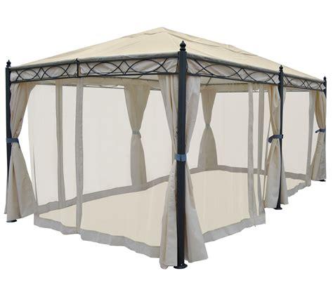 pavillon 2 5x3m pergola cadiz pavillon stabiles 7cm gestell 5x3m creme