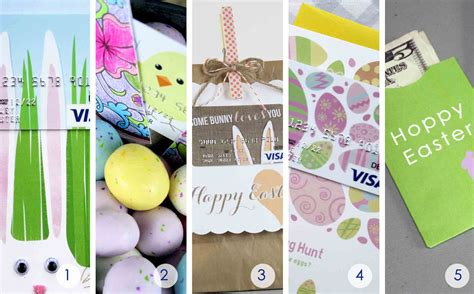 Easter Gift Cards - 5 free easter gift card holders to print at home gcg