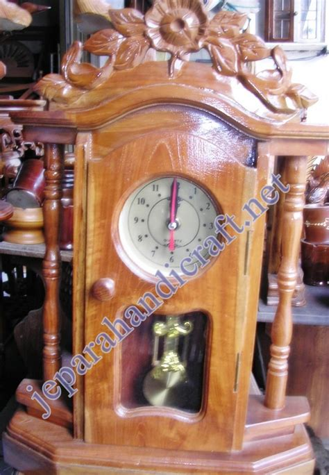 Jam Meja Motif Kayu Unik jual jam antik jepara