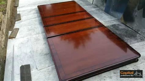 how to finish a wood table high gloss table acid polished lacquer refinishing