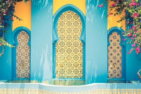 background of detail islamic architecture culture background morocco arabic moroccan photo free