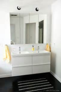 master bathroom with ikea godmorgon mirrored medicine cabinets and furniture ideas