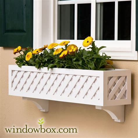 Office Pots 36in lattice window box w cleat mounting system window