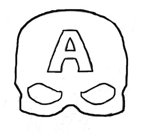 captain america helmet template free coloring pages of shield