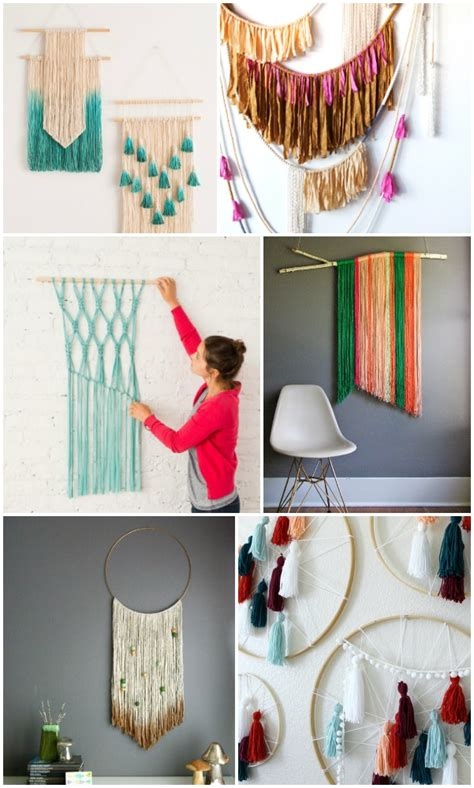 diy decorations hanging 20 easy diy yarn wall hanging ideas child at
