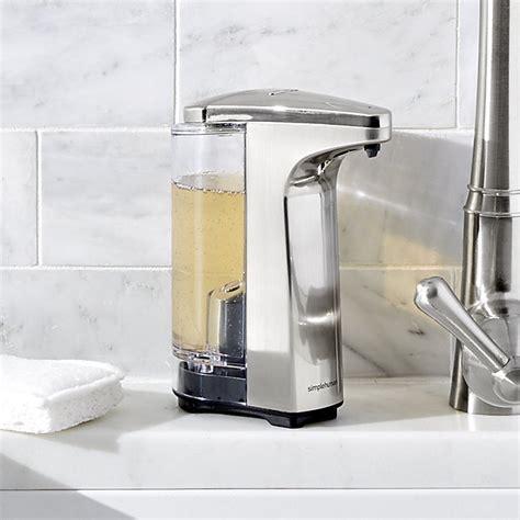 Automatic Sensor Stainless Steel Soap Dispenser Tempat Sabun Otomati simplehuman 174 brushed sensor soap dispenser crate and barrel