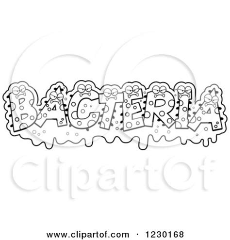 clipart  green monsters forming  word bacteria