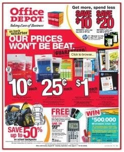 office depot coupons school supplies office depot back to school specials 8 29 10