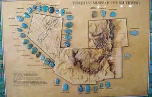 arizona turquoise mines map g o m