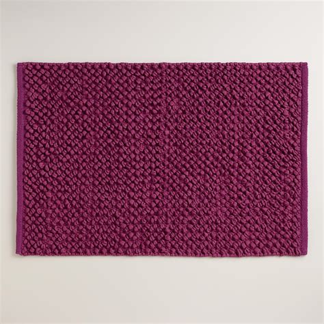 Plum Bathroom Rugs Plum Jersey Loop Bath Mat World Market
