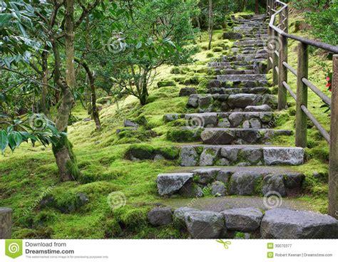 escalier asiatique de de jardin image stock image 30070377