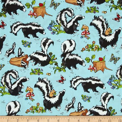 Fabric Krazy Quilt Shop by Krazy Kritters Skunks Discount Designer Fabric Fabric