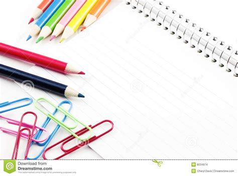 Blank Lined Index Cards Stock Images Image 8034974