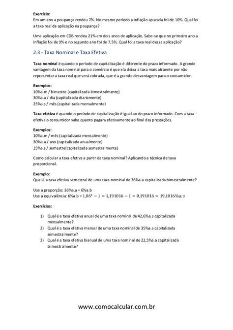 Apostila de Matemática Financeira - www.comocalcular.com.br