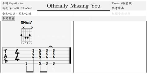 tutorial guitar officially missing you 虹韻音樂娛樂 吉他 烏克麗麗 officially missing you tamia 塔蜜雅