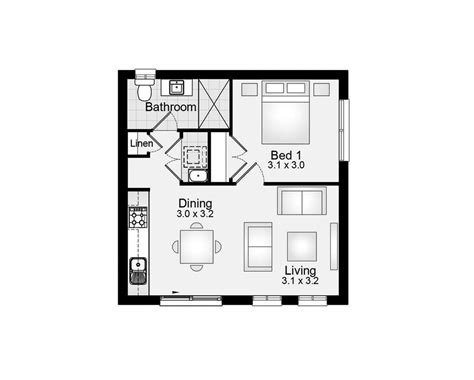 Granny House Floor Plans | granny flat 45m2 1 bedroom clarendon homes floor