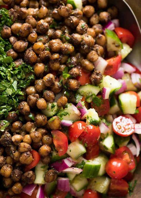 chickpea salad middle eastern chickpea salad recipetin eats