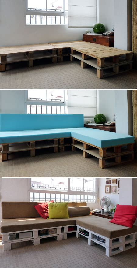 couch made of pallets couch made from pallets decor hacks