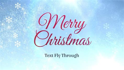 merry christmas text flythrough   effects template youtube
