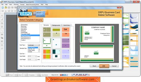 template maker software business card maker software screenshots helps userb to