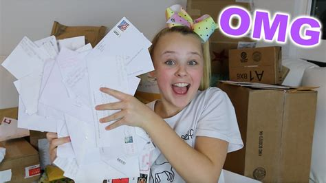 jojo siwa fan mail opening my fan mail