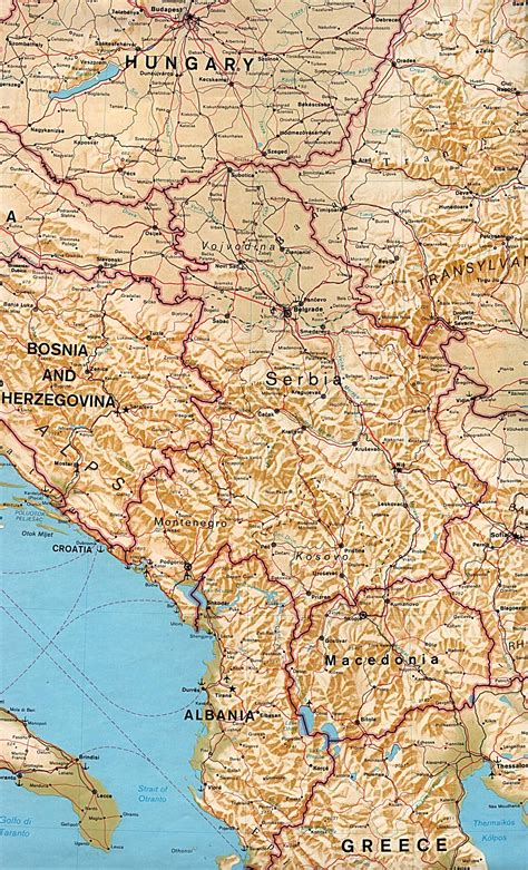 map of serbia nationmaster maps of serbia and montenegro 12 in total