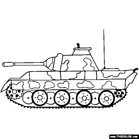 panzer panther tank coloring page color tanks sketch template