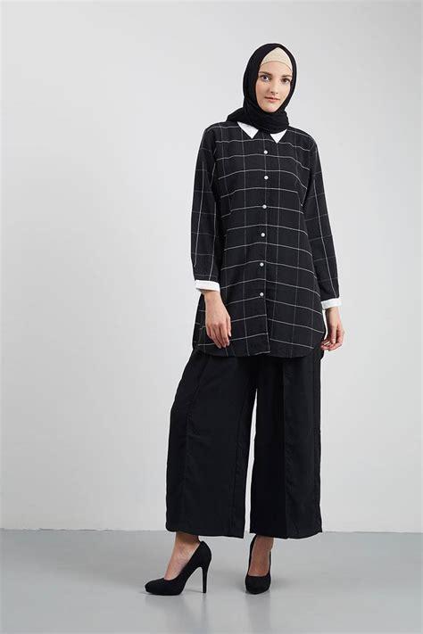 Tunik Kombinasi Stripes beragam pilihan model baju muslim tunik terbaru terpopuler baju muslim modern