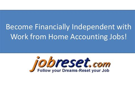become financially independent with work from home