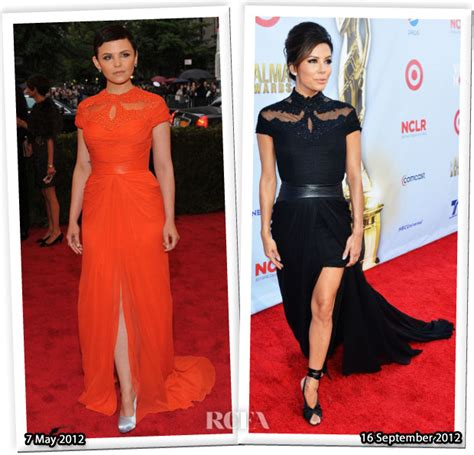 Runway To Carpet Longoria In Lhuillier At El Cantante Premiere La by Who Wore Lhuillier Better Ginnifer Goodwin Or