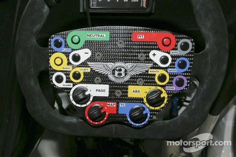 Steering wheel of the Bentley Continental GT3 at Dyson