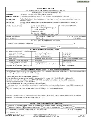 Army Lotus Forms Fillable 4187 May 2014 Fill Printable Fillable