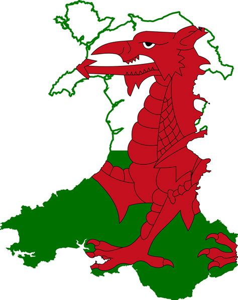 map of wales file flag map of wales svg wikimedia commons