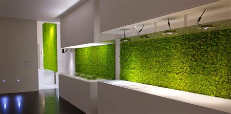 wall ls modern modern kitchen with a wall overed with grass livinator