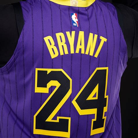 mens replica nike nba kobe bryant los angeles lakers city edition authentic jersey field