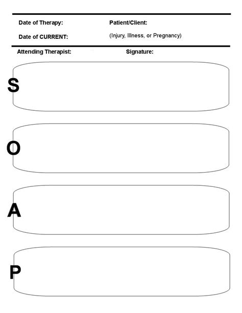 8 best images of printable massage soap note forms free