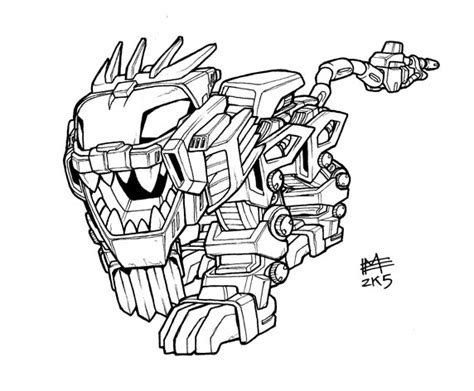 Sd Liger Zero Lineart By Mintyrobo On Deviantart Liger Coloring Pages